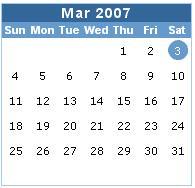Calendar control style