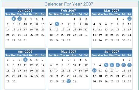 Dynamic Calendar Web Application In AspNet