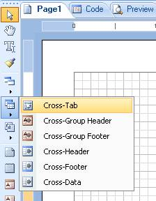 Add cross tab report