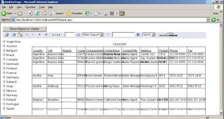 Export crystal reports to pdf file.