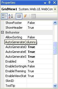 AutoGenerateColumns property in GridView