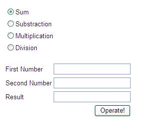 Calculator Web page