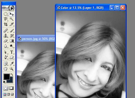 Converting Black & White Image To Color Image