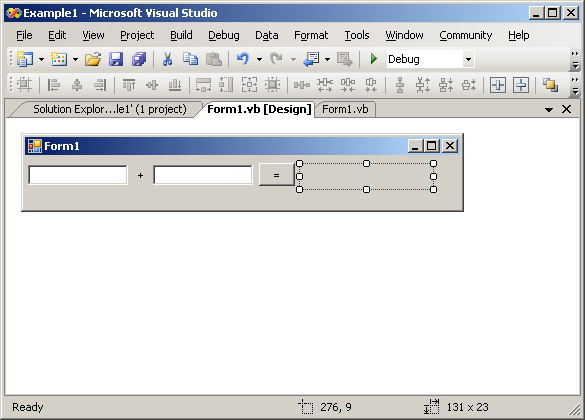 figure 2 graphical user interface - Visual Basic Beispiele